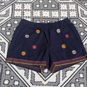 Madewell Pull On Embroidered Cotton Shorts